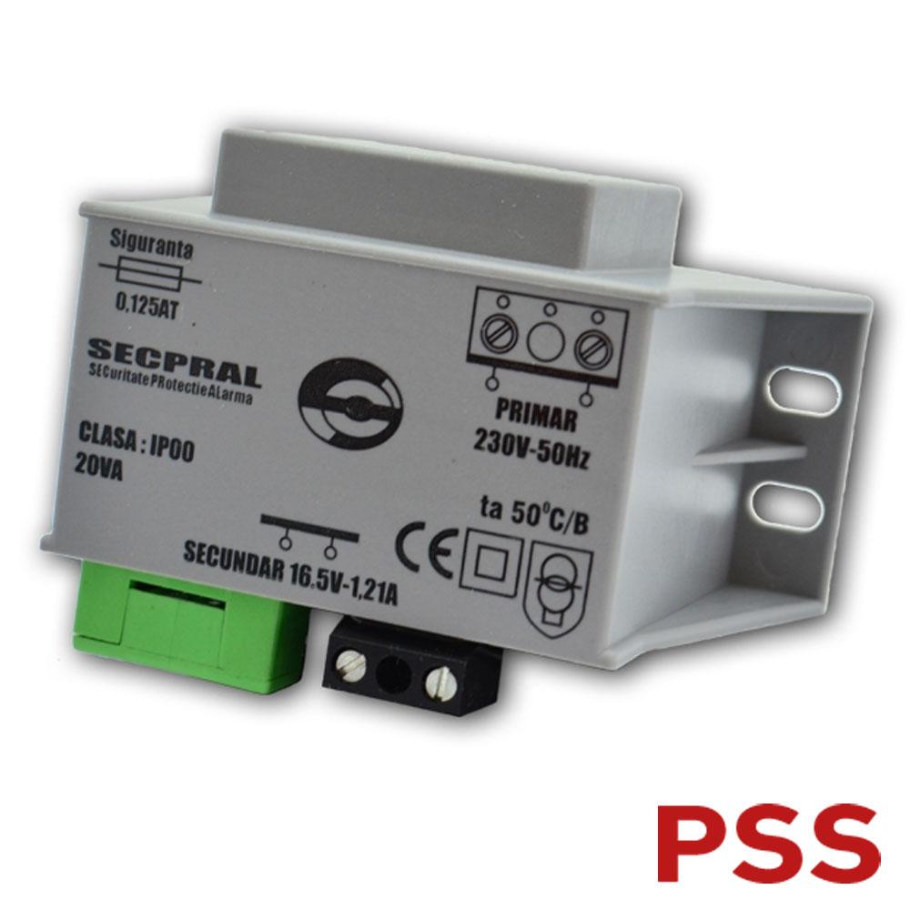 Transformator Capsulat 16VAC 45W in rasina - Secpral TC45-16-SC