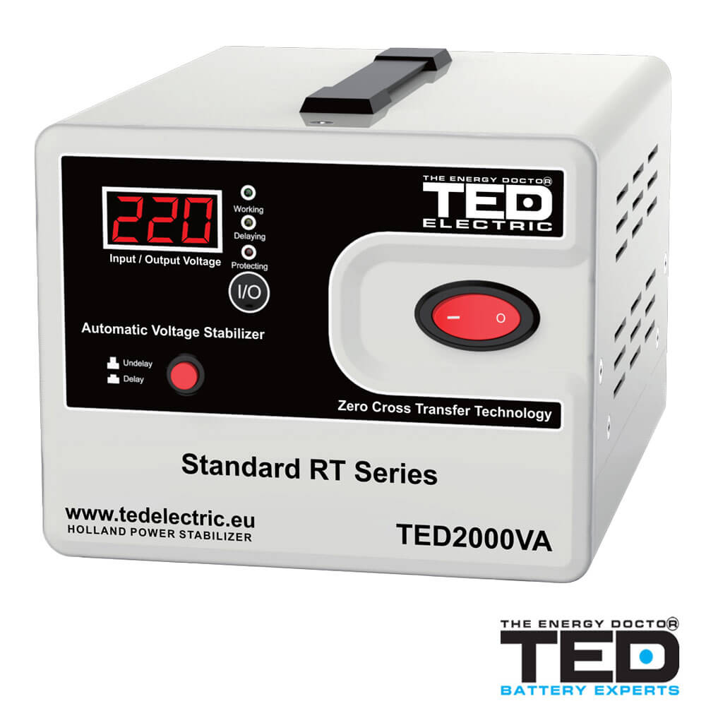 Cel mai bun pret pentru Stabilizatoare tensiune TED ELECTRIC TED2000 Stabilizator de tensiune 2000VA 1200W