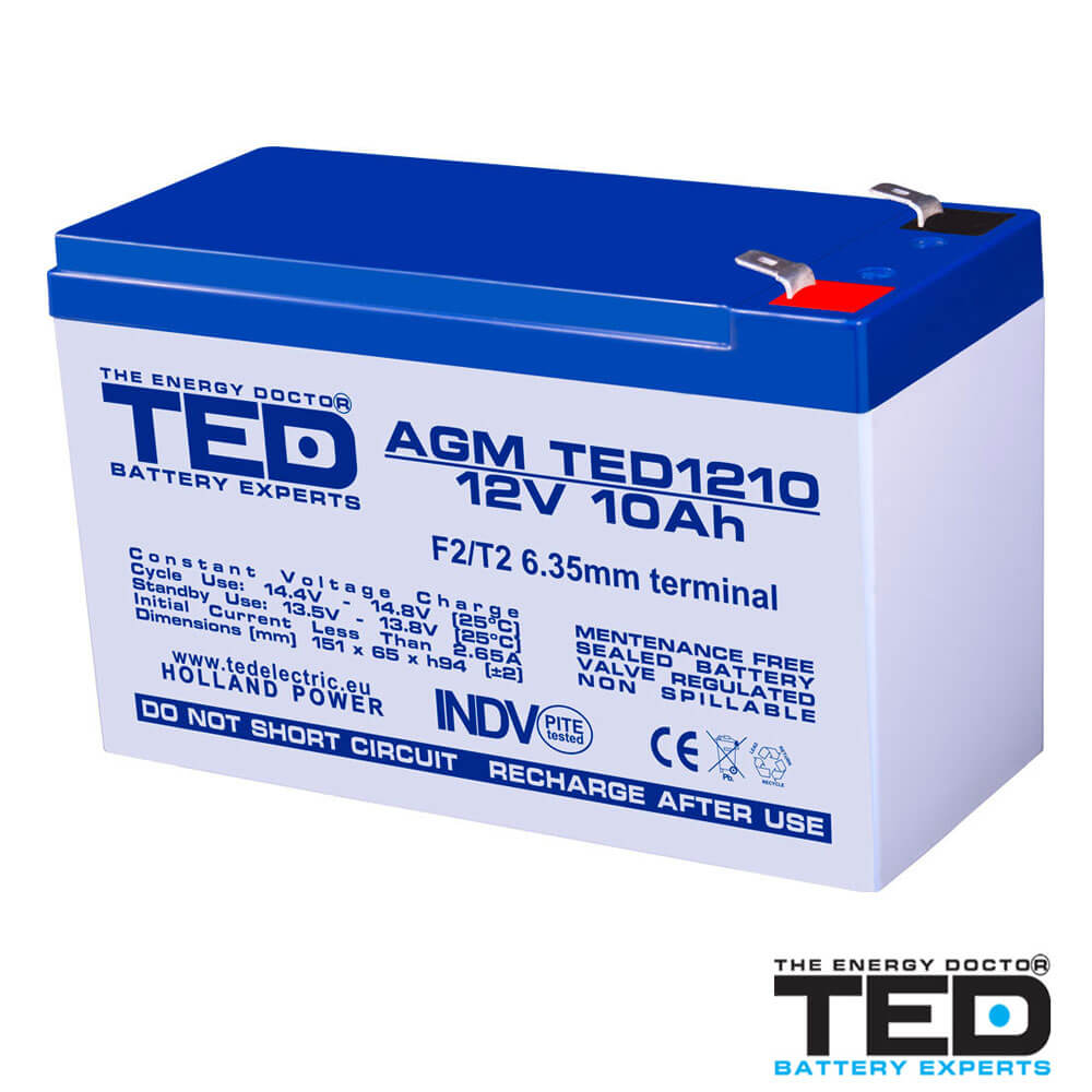 Cel mai bun pret pentru Acumulatori TED ELECTRIC TED1210F2 Acumulator