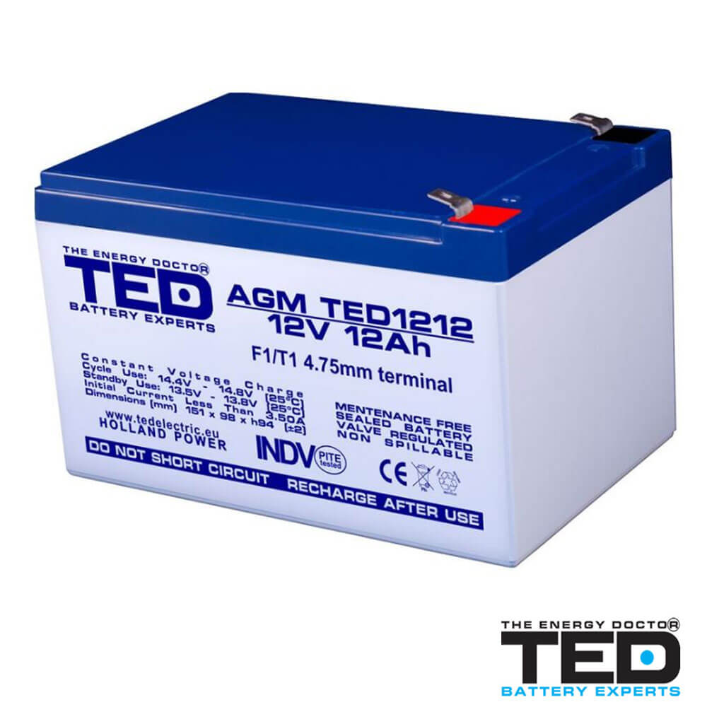 Cel mai bun pret pentru Acumulatori TED ELECTRIC TED1212F1 Acumulator