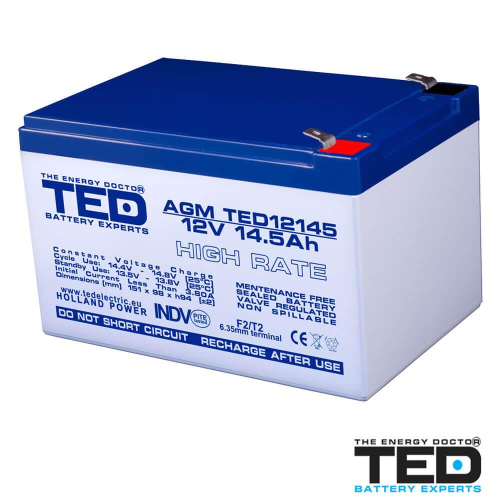 Cel mai bun pret pentru Acumulatori TED ELECTRIC TED12145HRF2 Acumulator
