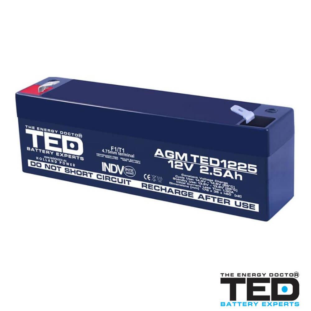 Cel mai bun pret pentru Acumulatori TED ELECTRIC TED1225F1 Acumulator