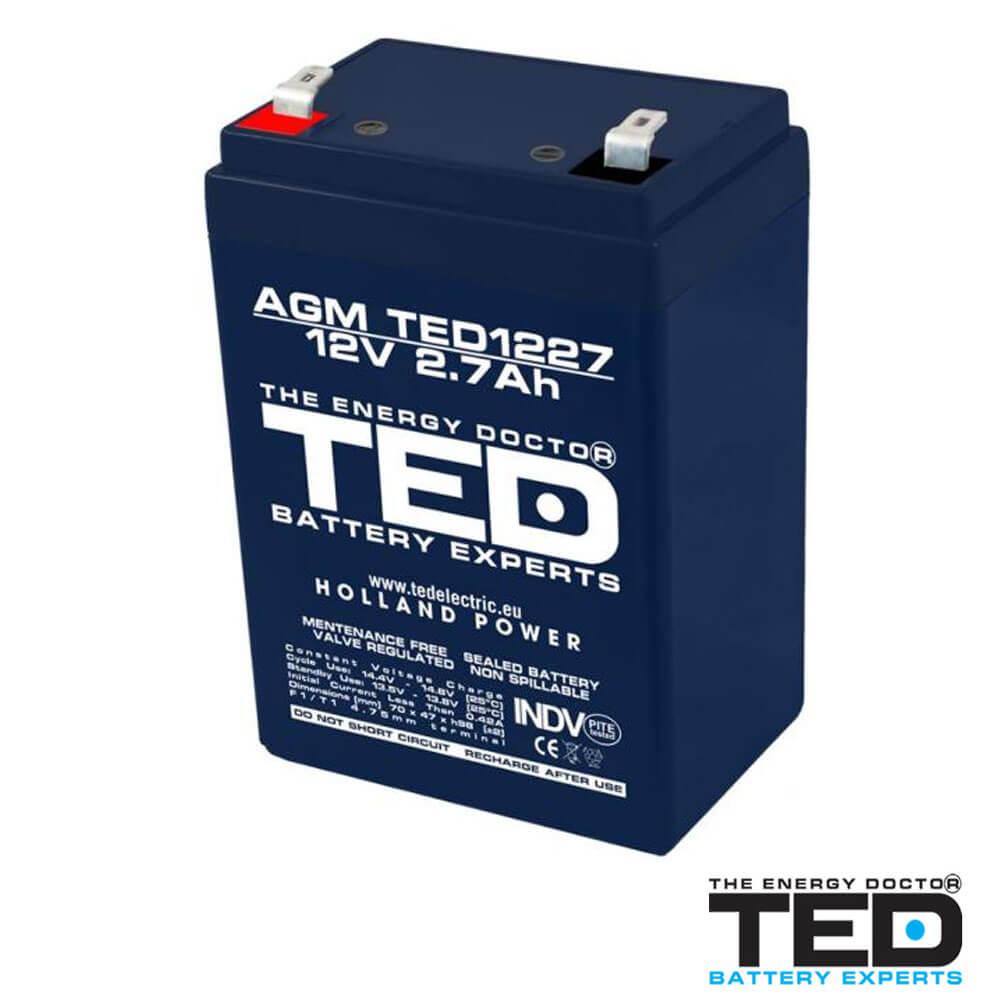 Cel mai bun pret pentru Acumulatori TED ELECTRIC TED1227F1 Acumulator