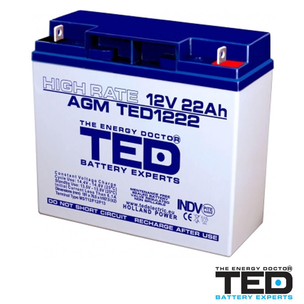 Cel mai bun pret pentru Acumulatori TED ELECTRIC TED1222HRF3 Acumulator