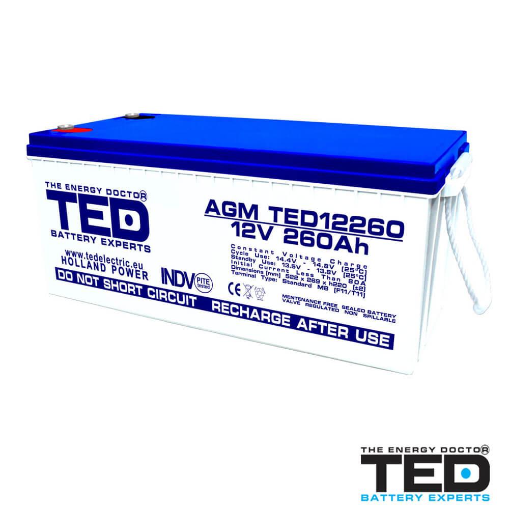Cel mai bun pret pentru Acumulatori TED ELECTRIC TED12260M8 Acumulator