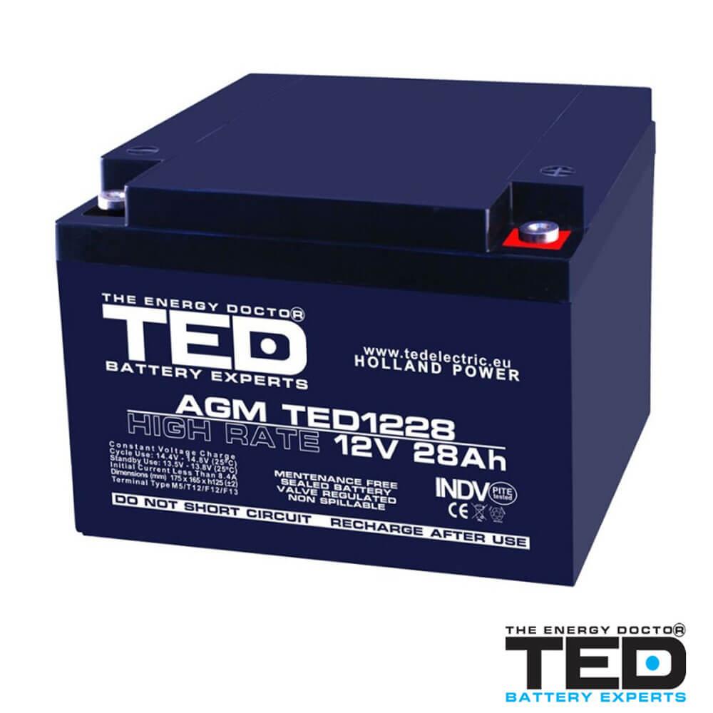 Cel mai bun pret pentru Acumulatori TED ELECTRIC TED1228M5 Acumulator