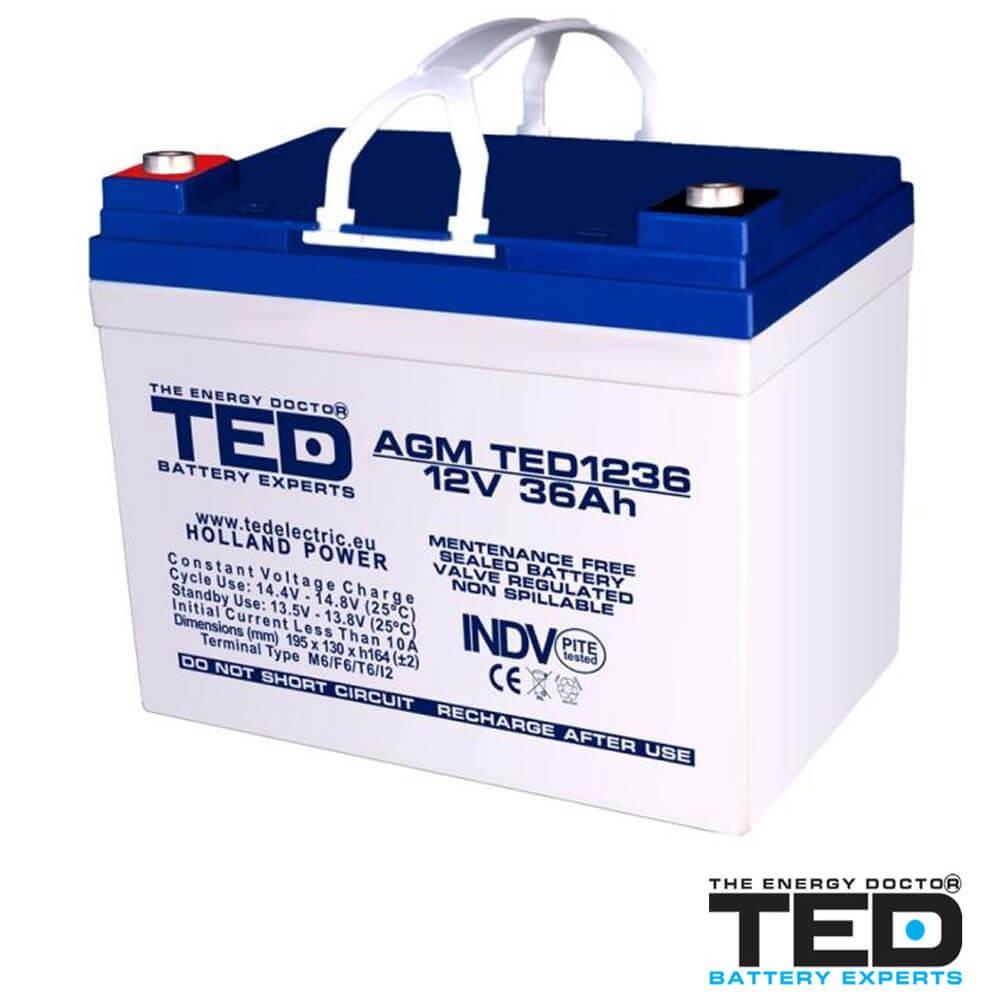 Cel mai bun pret pentru Acumulatori TED ELECTRIC TED1236M5 Acumulator