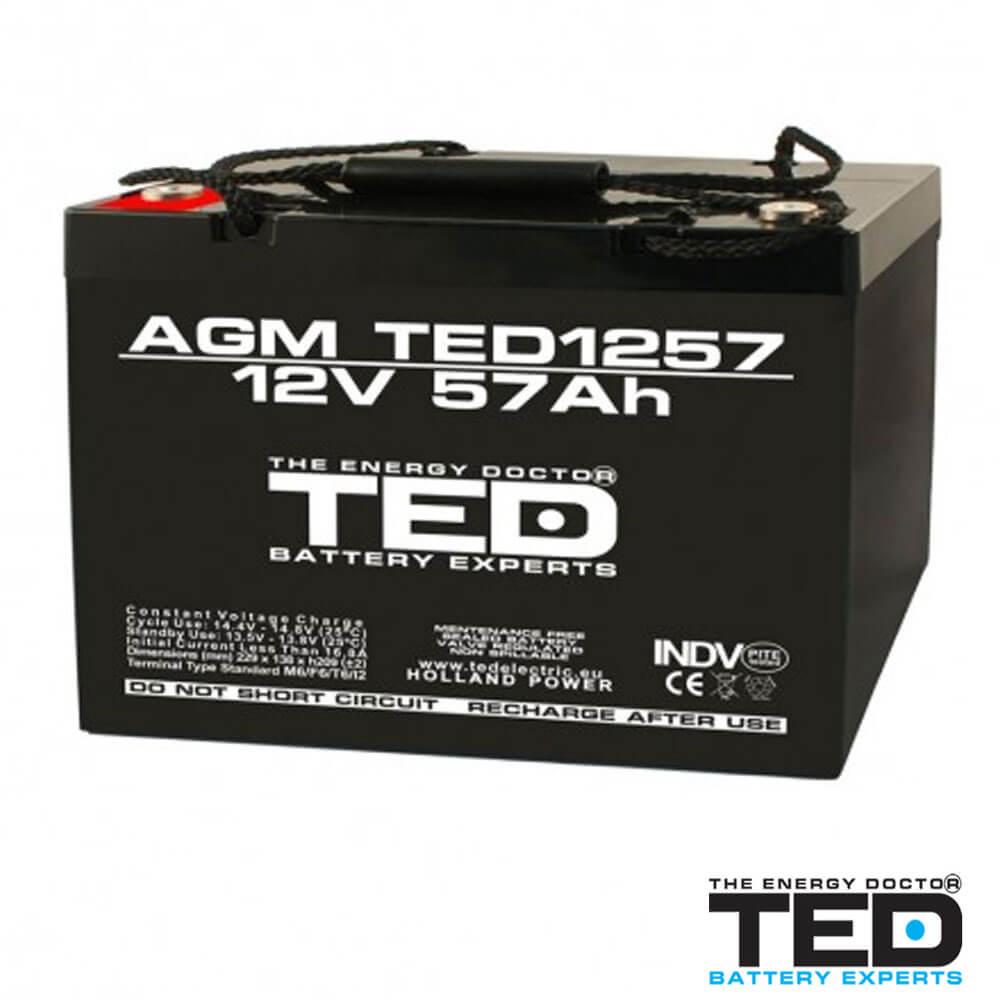 Cel mai bun pret pentru Acumulatori TED ELECTRIC TED1257M6 Acumulator