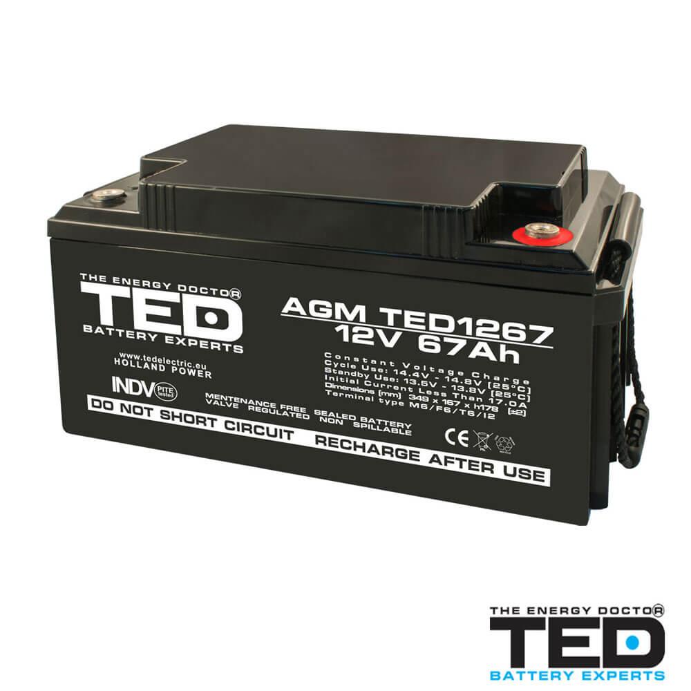 Cel mai bun pret pentru Acumulatori TED ELECTRIC TED1267M6 Acumulator