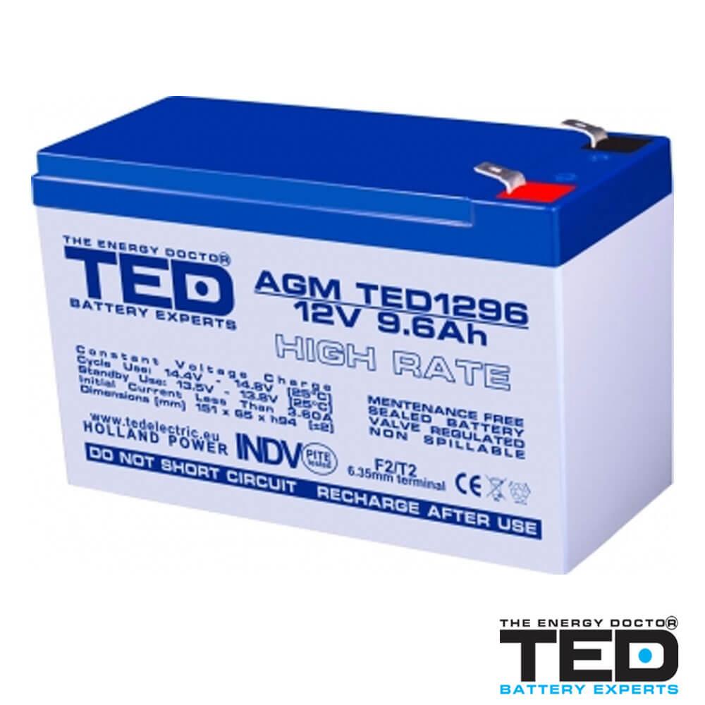 Cel mai bun pret pentru Acumulatori TED ELECTRIC TED 1296HRF2 Acumulator