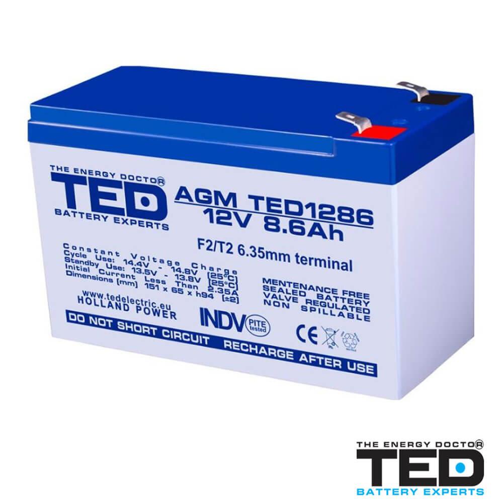 Cel mai bun pret pentru Acumulatori TED ELECTRIC TED1286F2 Acumulator
