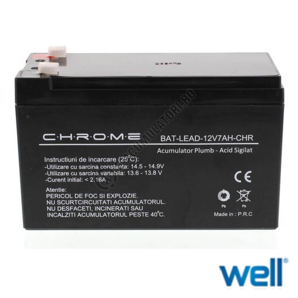 Cel mai bun pret pentru Acumulatori WELL 12V7AH-CHR 12V7Ah