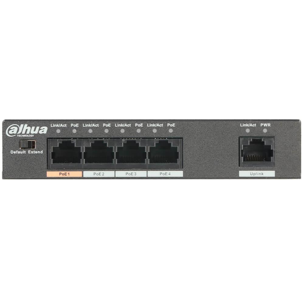 Cel mai bun pret pentru Switch-uri si injectoare DAHUA PFS3005-4ET-60 Special pentru interconectarea diferitelor segmente de rețea