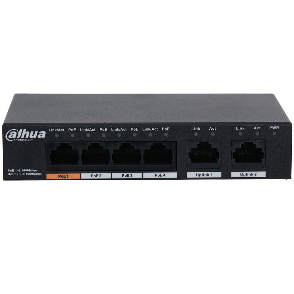 Cel mai bun pret pentru Switch-uri si injectoare DAHUA PFS3006-4GT-60 Special pentru interconectarea diferitelor segmente de rețea