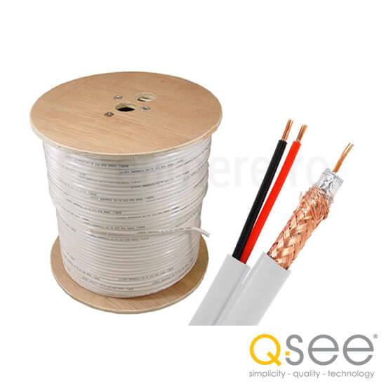 Cel mai bun pret pentru Cablu Q-SEE QS591000 Cablu coaxial RG59 & alimentare 2x0.75 - CUPRU, LUNGIMEA DE 305m
