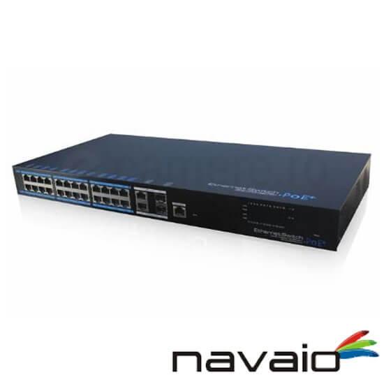 Cel mai bun pret pentru Switch POE NAVAIO NAV-NS124POE <i>Poate alimenta 24 de camere IP cu PoE</i>