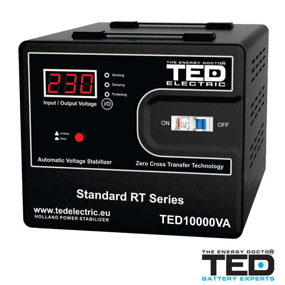 Cel mai bun pret pentru Stabilizatoare tensiune TED ELECTRIC TED10K Stabilizator de tensiune 10000VA 6000W
