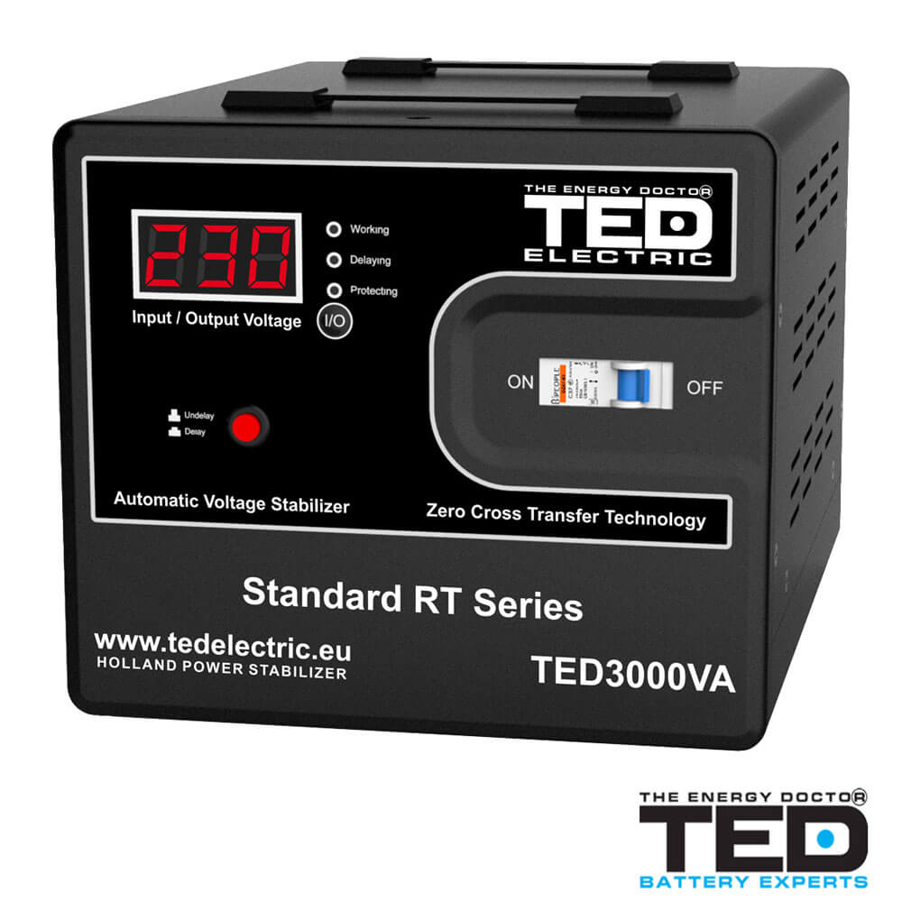 Cel mai bun pret pentru Stabilizatoare tensiune TED ELECTRIC TED3000 Stabilizator de tensiune 3000VA 1800W