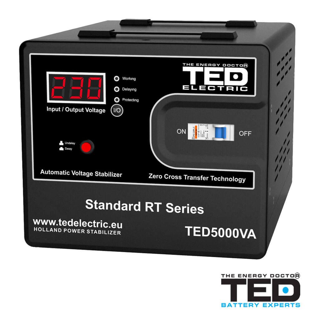 Cel mai bun pret pentru Stabilizatoare tensiune TED ELECTRIC TED5000 Stabilizator de tensiune 5000VA 3000W