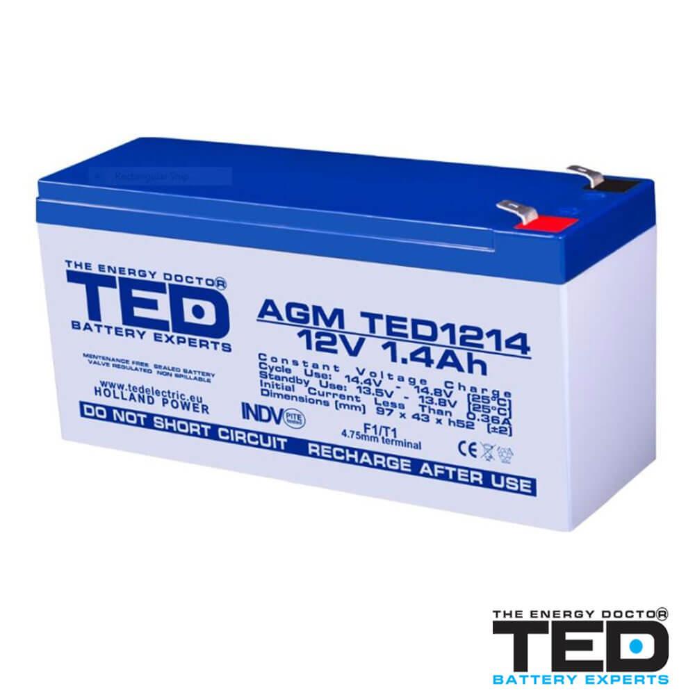Cel mai bun pret pentru Acumulatori TED ELECTRIC TED1214F1 Acumulator