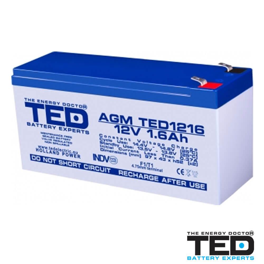 Cel mai bun pret pentru Acumulatori TED ELECTRIC TED1216F1 Acumulator