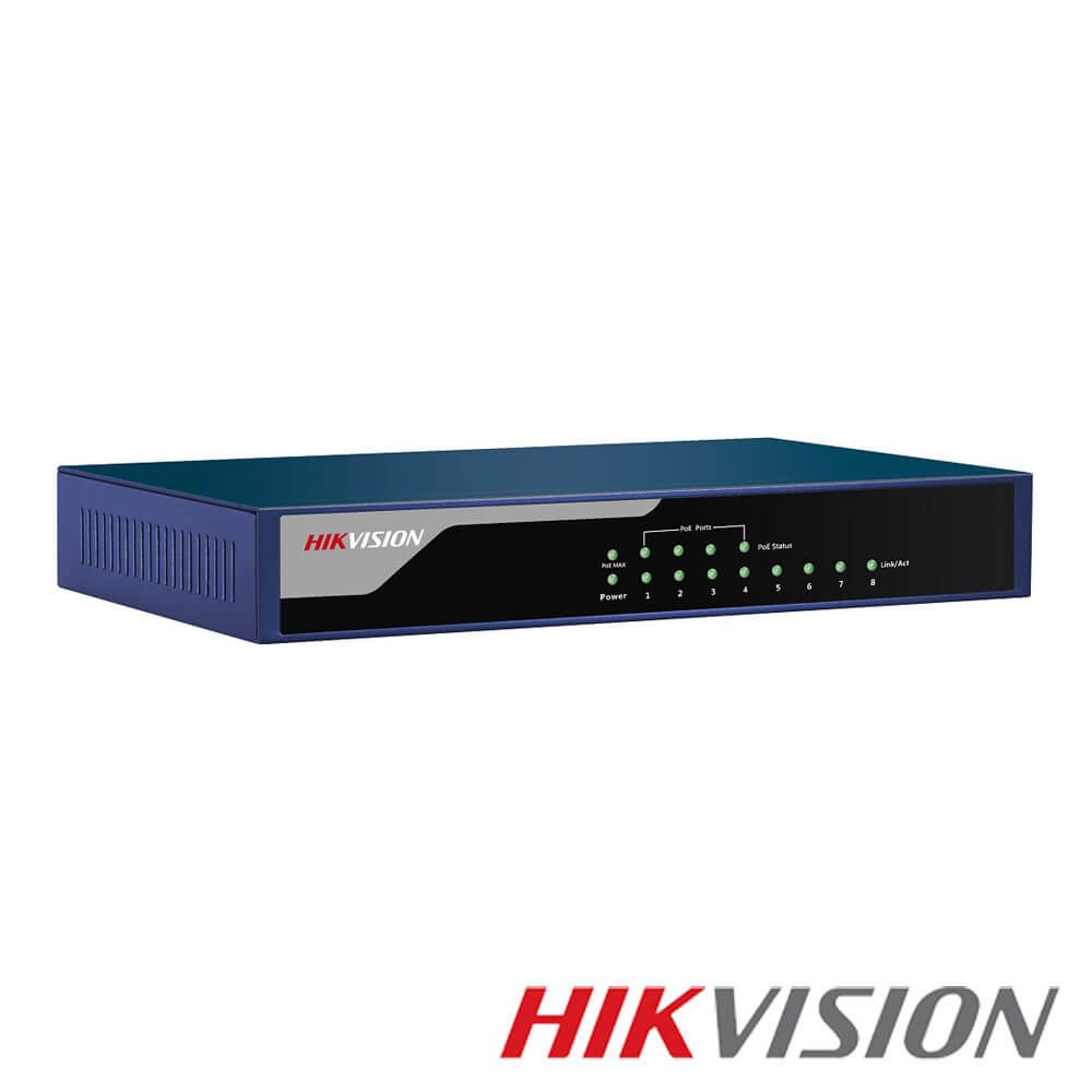Cel mai bun pret pentru Switch-uri si injectoare HIKVISION DS-3E0108P-E Special pentru interconectarea diferitelor segmente de rețea