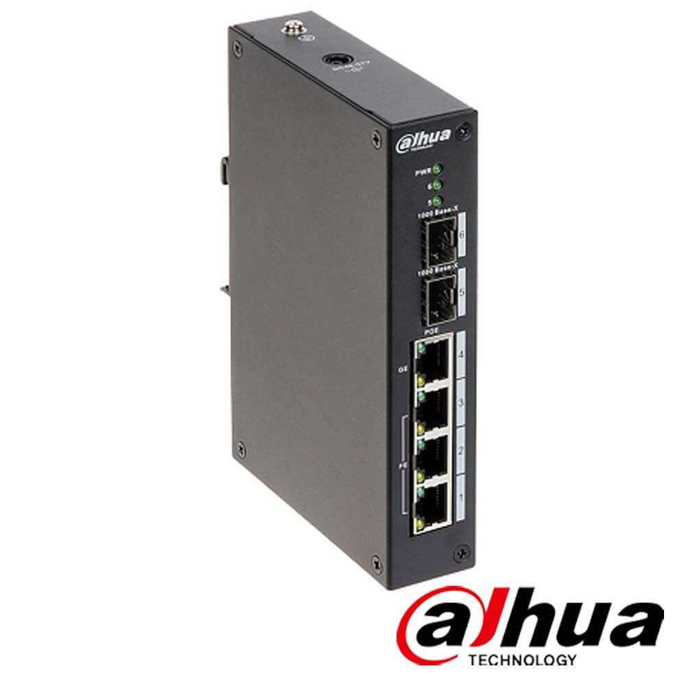 Cel mai bun pret pentru Switch-uri si injectoare DAHUA PFS4206-4P-96 Special pentru interconectarea diferitelor segmente de rețea