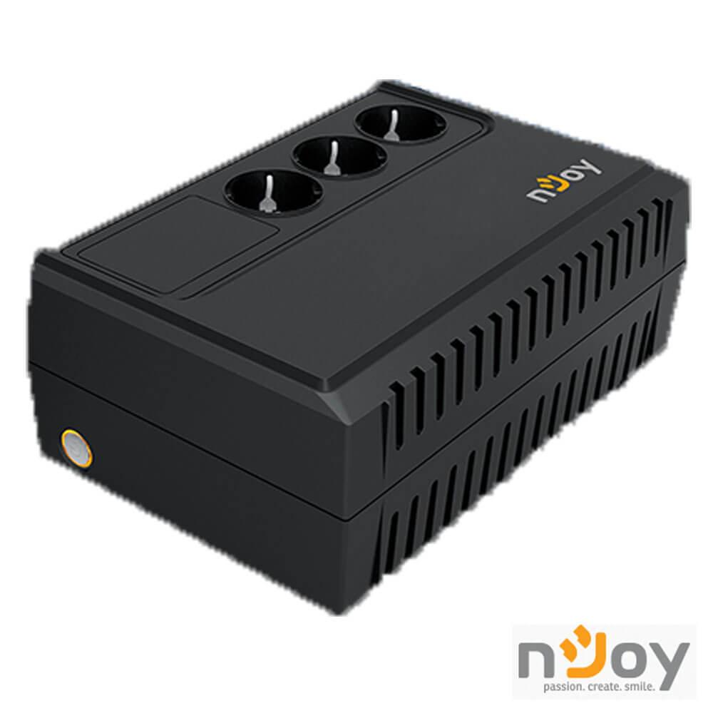 Cel mai bun pret pentru UPS-uri NJOY RENTON 650 Renton 650 Line Interactive UPS 650VA, 360W, AVR, 3 Prize cu protectie conectate la baterie