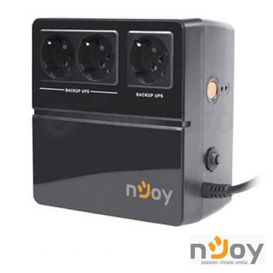 Cel mai bun pret pentru UPS-uri NJOY EIDO 600 UPS Offline, 600 VA, 300W, 3 Prize cu protecție și conectate la baterie, baterie 12 V/5 AH x 1