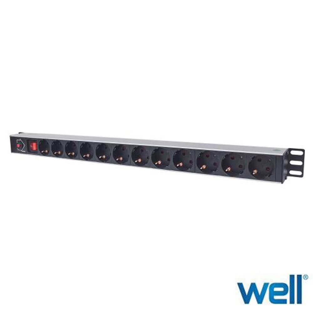 Cel mai bun pret pentru Accesorii rack-uri WELL PDU-PROT-VM/1U/12S1.6M-INTL Numar prize: 12