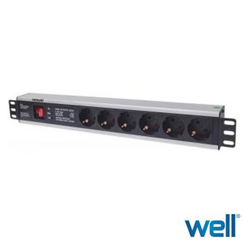 Cel mai bun pret pentru Accesorii rack-uri WELL PDU-PROT-19/1.5U/6S3M-INTL Lungime cablu: 3m