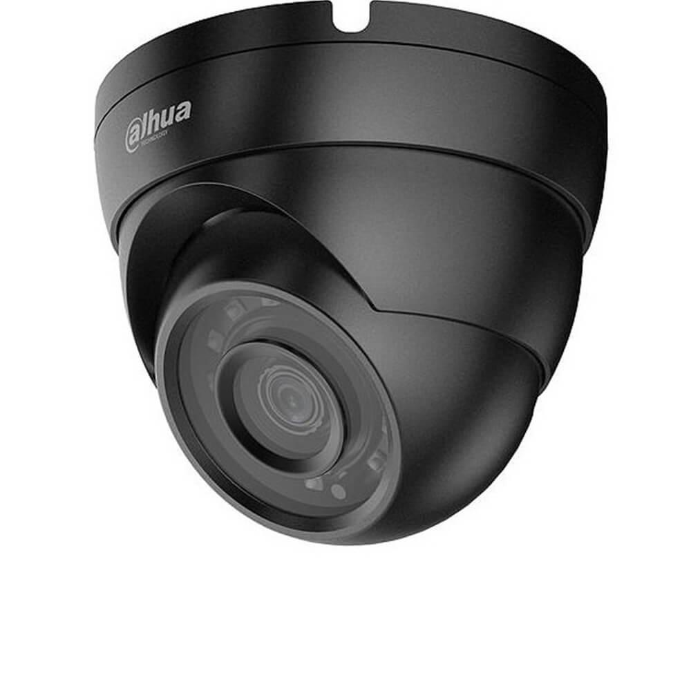 Camera 2MP Exterior, IR 30m, Lentila 2.8 , Culoare neagra , 2.8 mm - Dahua HAC-HDW1200M-0280B-BLACK