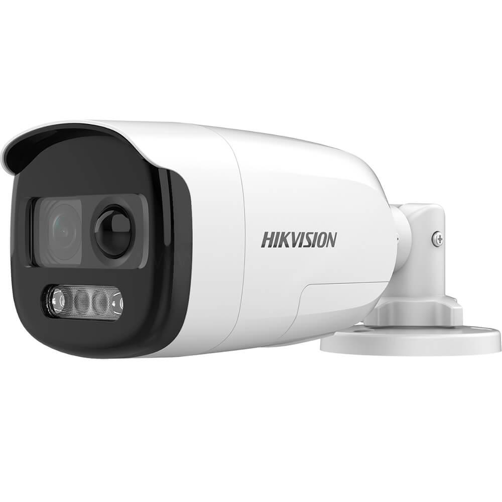 Camera 2MP Exterior, IR 40m, ColorVu, lentila 3.6, Sirena Integrata - HikVision DS-2CE12DFT-PIRXOF