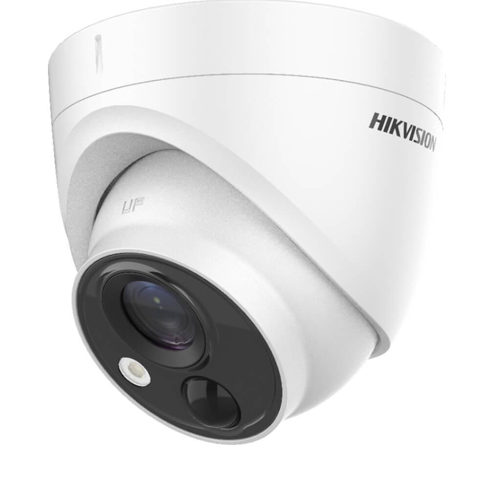 Camera Turbo HD 5MP, Exterior, IR 20m, Lentila 2.8, PIR, Dome - HikVision DS-2CE71H0T-PIRLPO