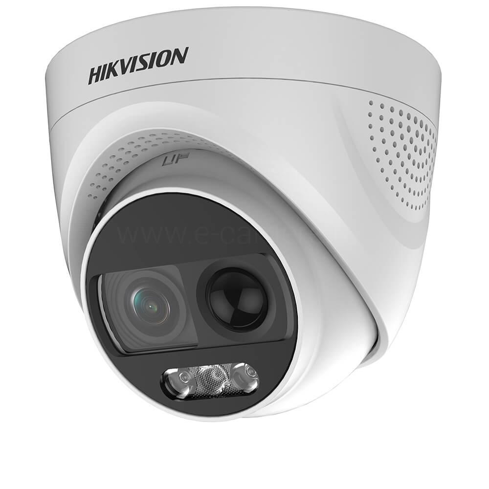 Camera HD 2MP, Exterior, LED 20m, Lentila 2.8, Dome, ColorVu - HikVision DS-2CE72DFT-PIRXOF