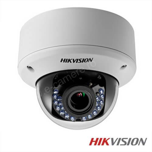 Cel mai bun pret pentru camera IP HIKVISION DS-2CE56D1T-AVPIR3 cu 2 megapixeli, pentru sisteme supraveghere video