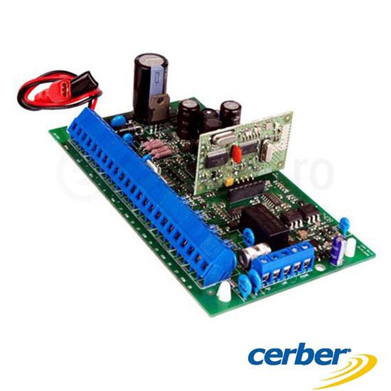 Centrala alarma cablata, 8 zone, extensibila 16 zone prin dublare - Cerber C816 PCB
