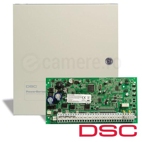 Centrala alarma 8 zone, 64 extensibila, tastatura neinclusa - DSC PC1864-NK