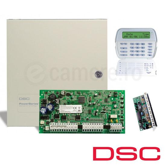 Centrala alarma 6 zone, extensibila 16, tastatura ICON, modul 8 zone - DSC PC1616-E-ICON