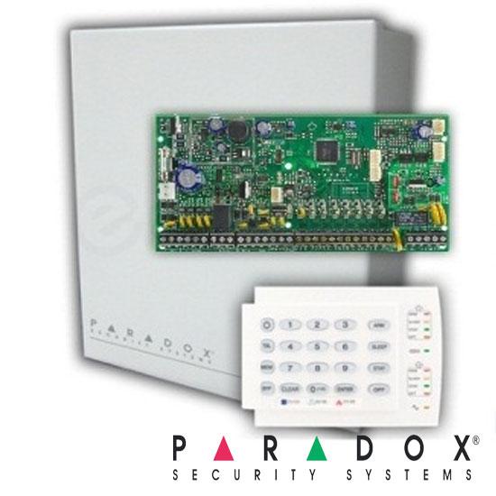 Centrala alarma SP65, in cutie cu transformator si K636 - Paradox SP65-K636