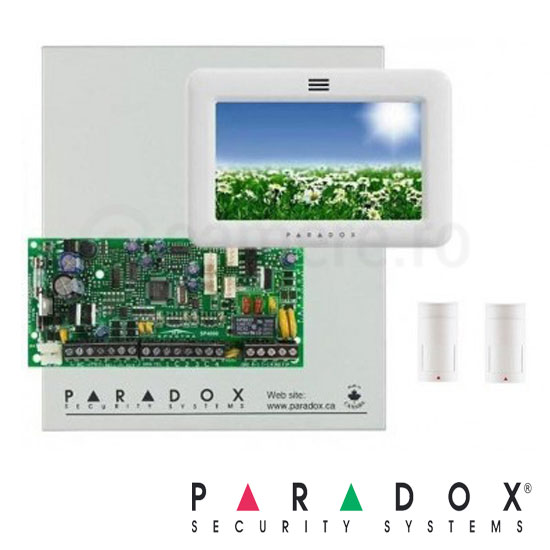 Centrala alarma SP6000 in cutie si tastatura TM50 Touch Screen - Paradox SP6000-TM70