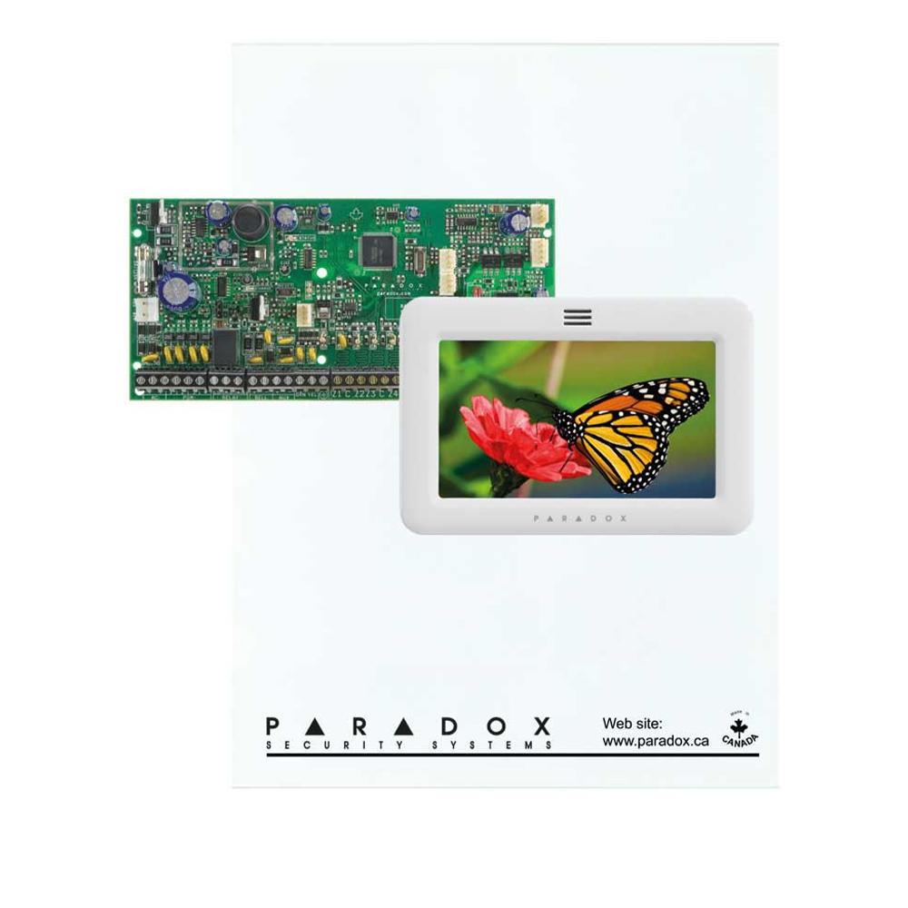Centrala alarma SP6000 in cutie si tastatura TM50 Touch Screen - Paradox SP6000-TM50