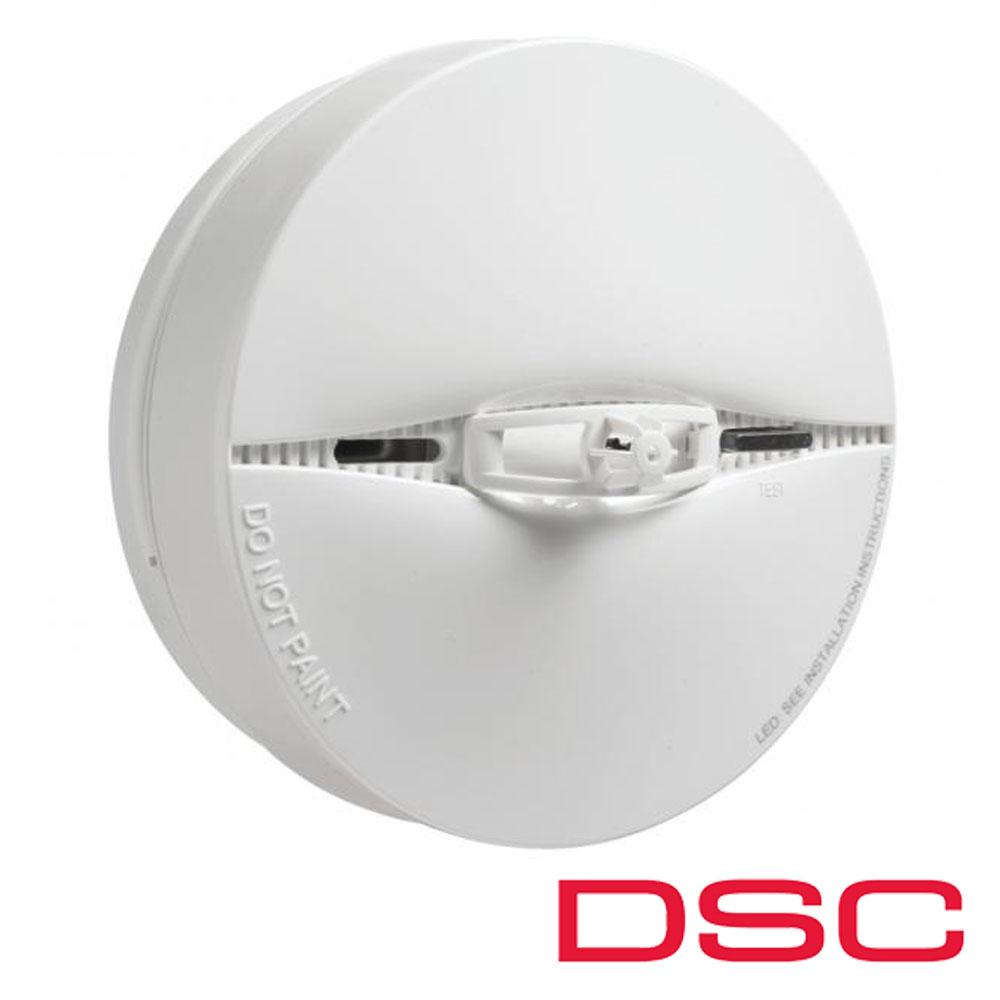 Detector de fum fotoelectric cu senzor de temperatura incorporat, Wireless - DSC PG-8916