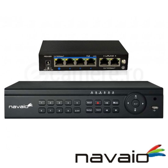 Cel mai bun pret pentru NVR-ul NAVAIO NGD-8108POE cu 2 megapixeli, pentru sisteme supraveghere video IP