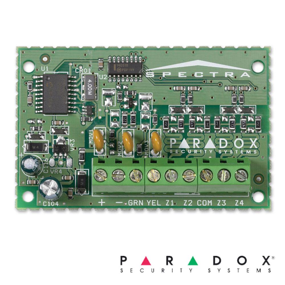 Modul de extensie 4 zone (8 cu dublare), pe fir - Paradox  ZX4
