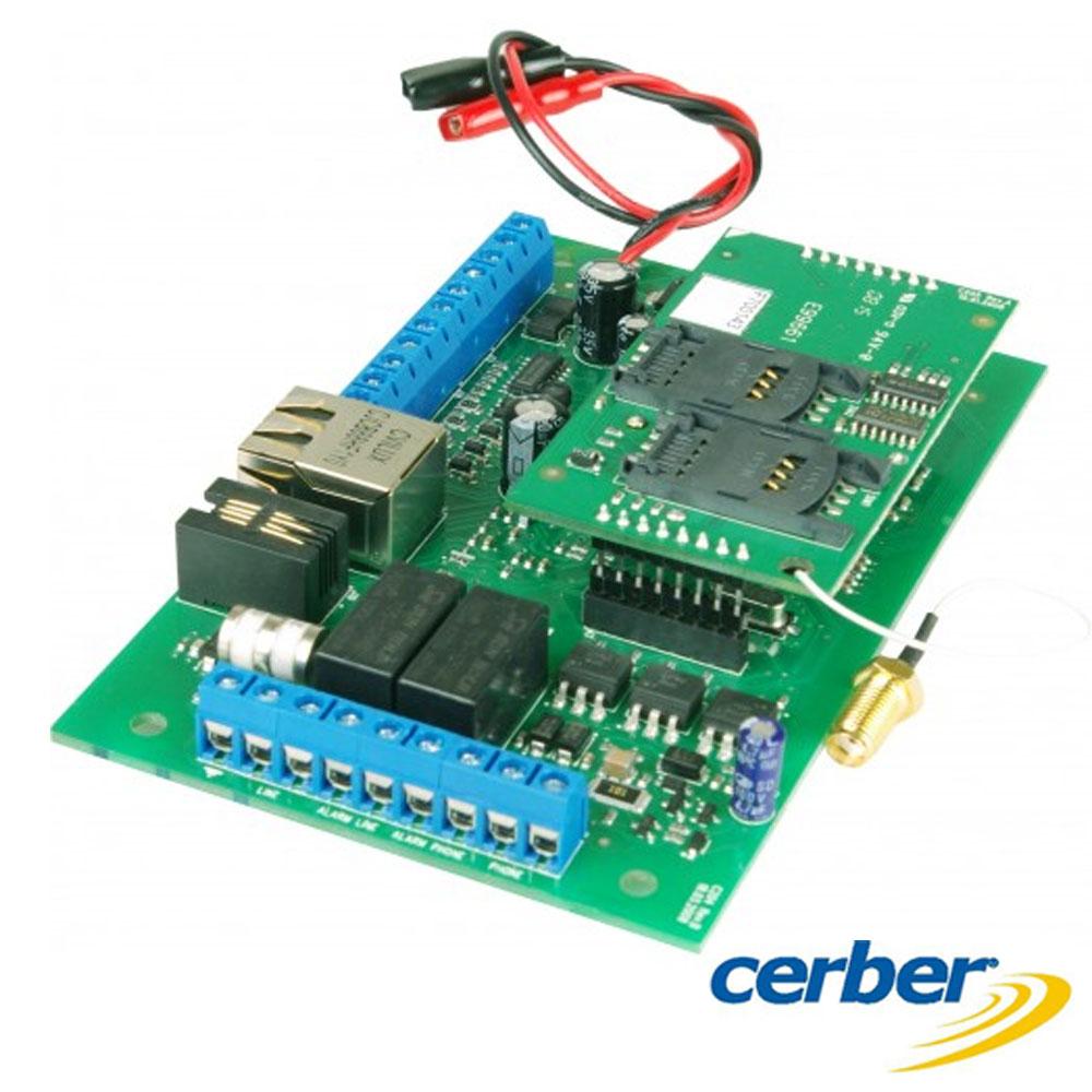 Placă comunicator universal linie telefonică/IP/GPRS - Cerber MultiCOMM-IP/GPRS