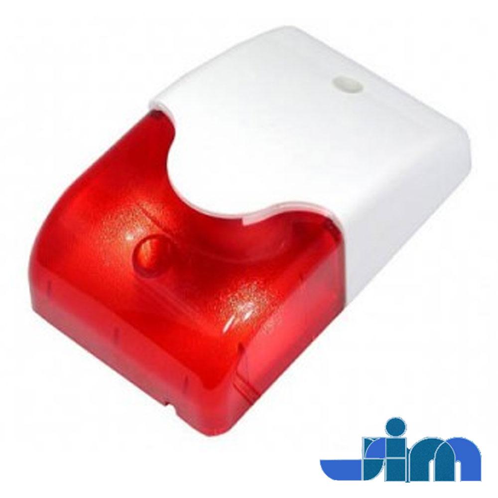 Sirena interior cu flash rosu, policarbonat, 110 dB - Stim LD95