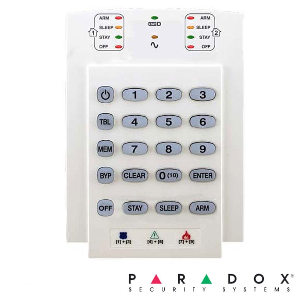 Tastatura LED 10 zone, pe fir, verticala - Paradox K10V