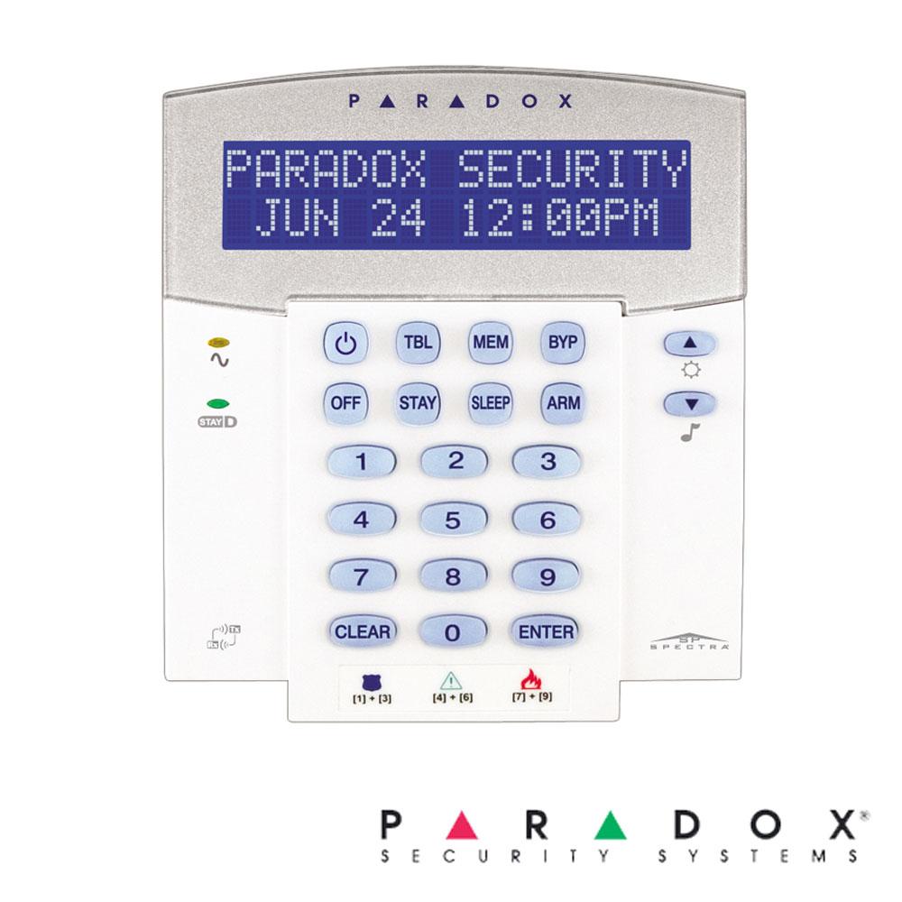 Tastatura LCD 32 zone, pe fir, inclus modul wireless, 1 intrare zona - Paradox K32LX