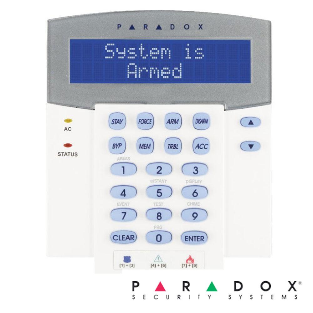 Tastatura LCD Alfanumerica, pe fir, identica K641+ dar cu Modul Wireless - Paradox K641LX